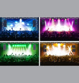 music festival or concert streaming stage scene vector image
