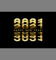 2021 golden numbers lettering from turning pages vector image