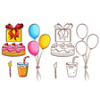 A birthday celebration vector image vector image