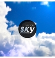 abstract background with blue sky and clouds vector image