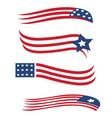 america usa star and stripes flag set vector image vector image