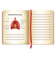 Anatomy of human lungs on the page vector image vector image