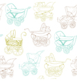 Baby Carriage Background vector image vector image