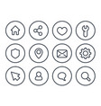 basic line icons for web and apps vector image vector image