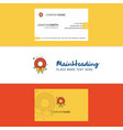 beautiful flowers ring logo and business card vector image