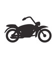 bike pictogram silhouette vector image vector image