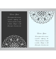 Black and white flyers with ornate flower pattern vector image vector image