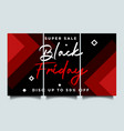 black friday instagram story background vector image