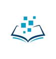 blue e book logo design sign electronic book vector image vector image