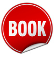 book round red sticker isolated on white vector image vector image
