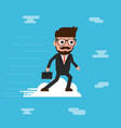 businessman ride cloud vector image vector image