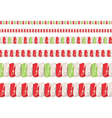 Candy Cane Borders2 vector image vector image