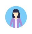 caucasian businesswoman face avatar happy asian vector image