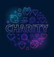 charity round bright - colored vector image vector image