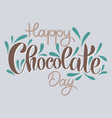 chocolate world day vector image