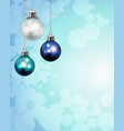 christmas holiday ornaments template background vector image vector image