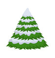 christmas tree in the snow on a white background vector image vector image