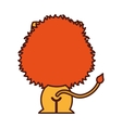 cute lion tender character vector image vector image