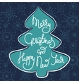 Cute xmas greeting card with fir tree vector image vector image