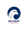 delivery logo template logo eagle head vector image