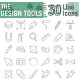 design tools thin line icon set graphic signs vector image vector image