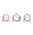 efficiency work time working hours rate business vector image