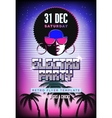 Electro party poster Retro 80s neon background vector image vector image