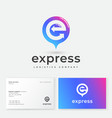 express logo e monogram arrows like map mark vector image