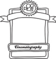 Film and cinema elements vector image vector image