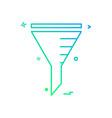filter icon design vector image