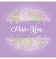 flower wreath in a watercolor style vector image vector image