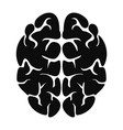 genius brain icon simple style vector image vector image