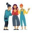 girls group talking or chatting and gossiping vector image