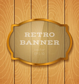 glass banner on light wooden background vector image