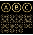 Golden letters vector image