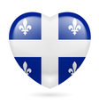 Heart icon of Quebec vector image vector image