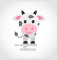 icon a cute cow in flat design vector image