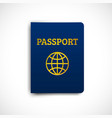 international passport blue cover vector image vector image