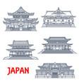 japanese religious travel landmark thin line vector image vector image