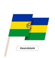 Kwandebele Ribbon Waving Flag Isolated on White vector image vector image