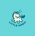 little unicorn logo vector image