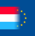 luxembourg national flag with a star circle of eu vector image