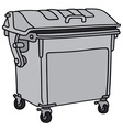 Metal garbage container vector image vector image