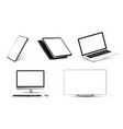 mockups collection realistic devices vector image vector image