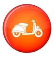 Motorbike icon flat style vector image vector image