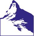 mountain landscape icon vector image vector image