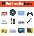 Multimedia icon set vector image