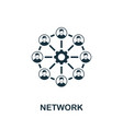 network icon symbol creative sign from seo and vector image