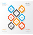 network icons set collection of landscape photo vector image vector image