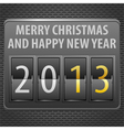 New Year 2013 on Mechanical Timetable vector image vector image